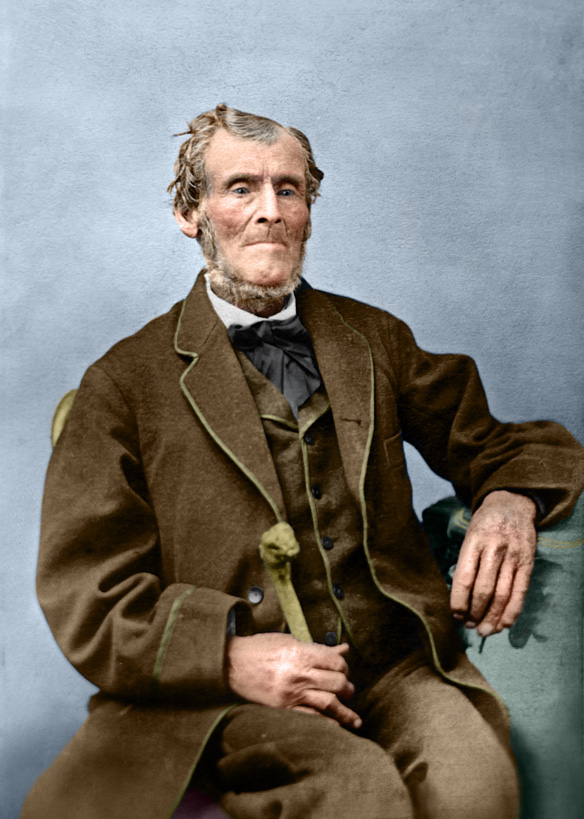 Martin Harris. Photo by Savage & Ottinger. Retouching and colorization by Bryce M. Haymond. Here is an uncompressed TIFF version. (Click to see full high resolution)