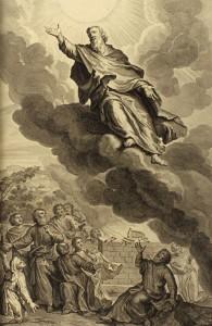 """God took Enoch,"" illustrated by Gerard Hoet, 1728 Figures de la Bible"