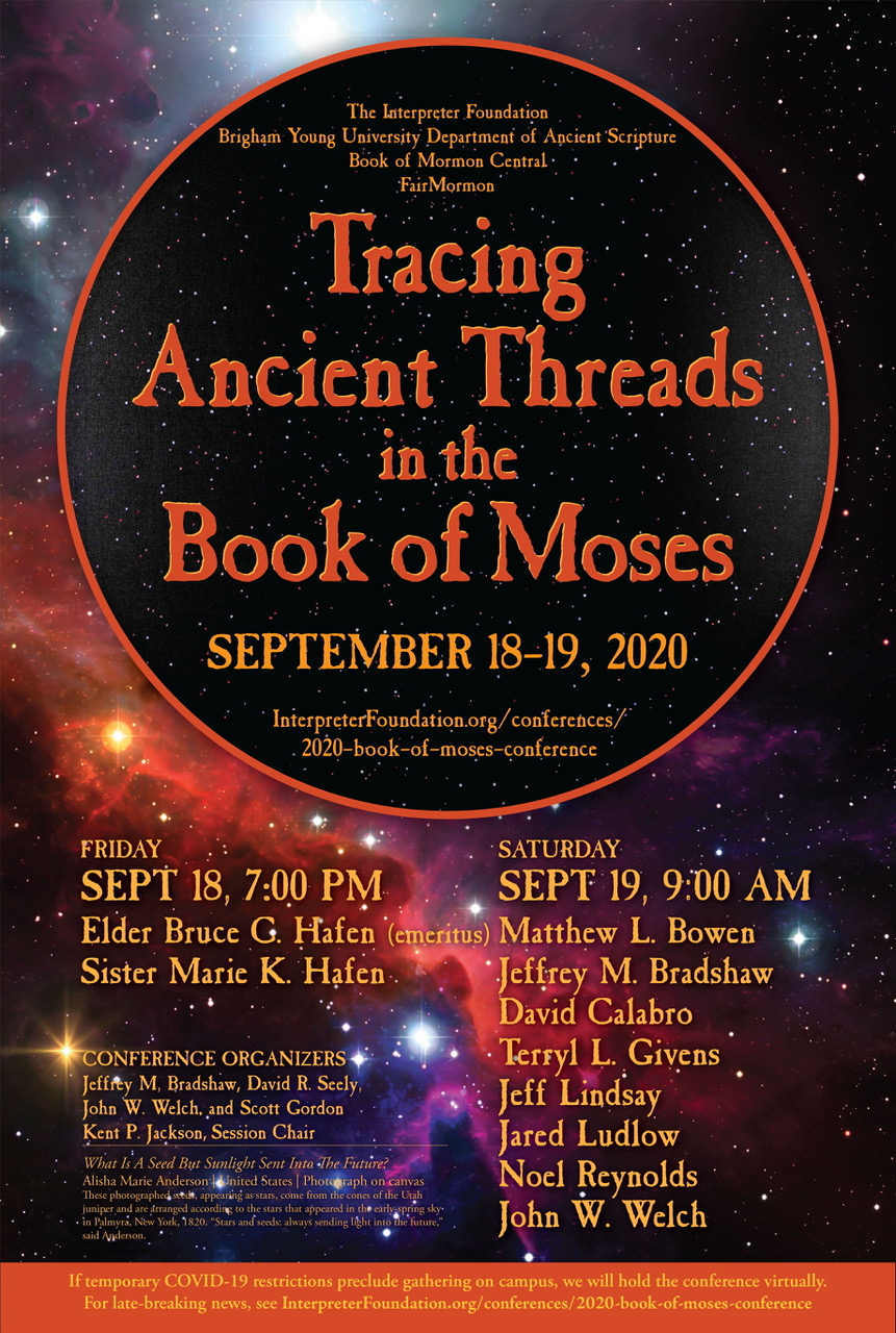 Poster for the Book of Moses Conference