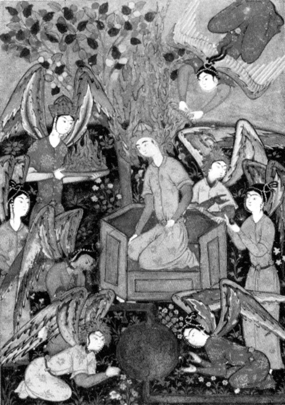 Adam Enthroned, the Angels Prostrating Themselves before Him