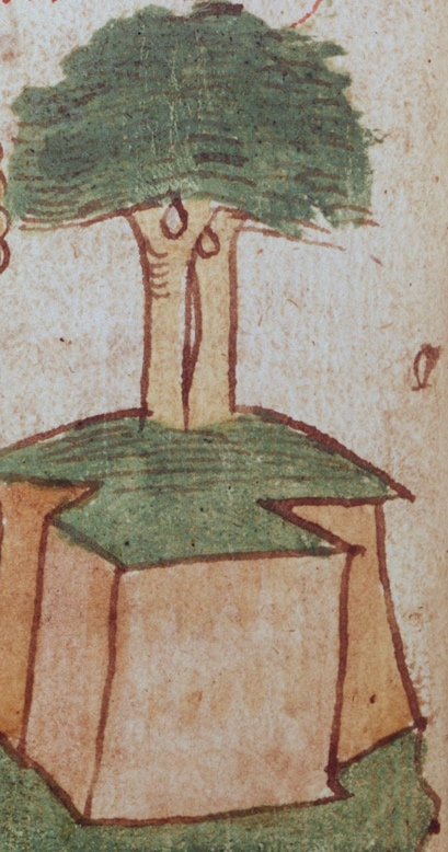 Entwined Trees of Eden. Lutwin: How the Devil Deceived Eve (detail), early 14th century