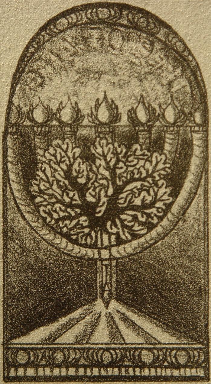 Dixie L. Majers, 1934-: Lit Menorah with Tree of Life, 1985.