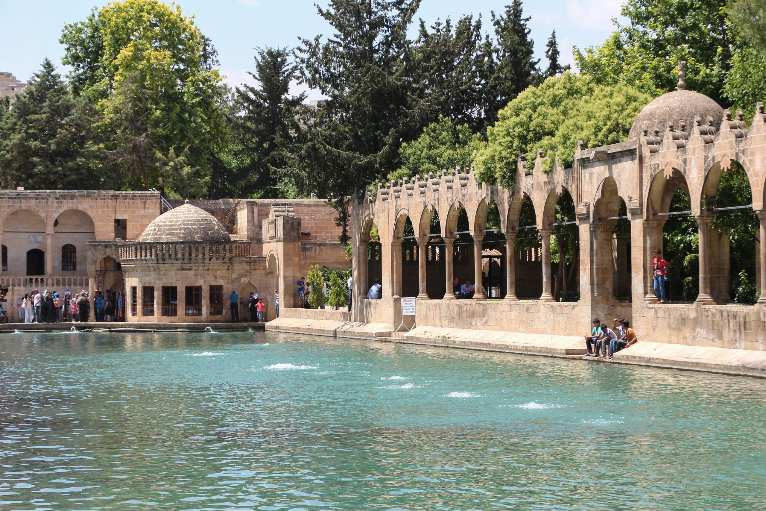Balikli Göl (Abraham's Pool) at the site of ancient Edessa, now Urfa, Turkey