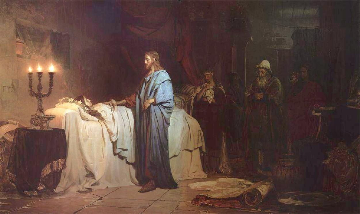 Ilya Efimovich Repin, 1844-1930: Raising of Jairus' Daughter, 1871
