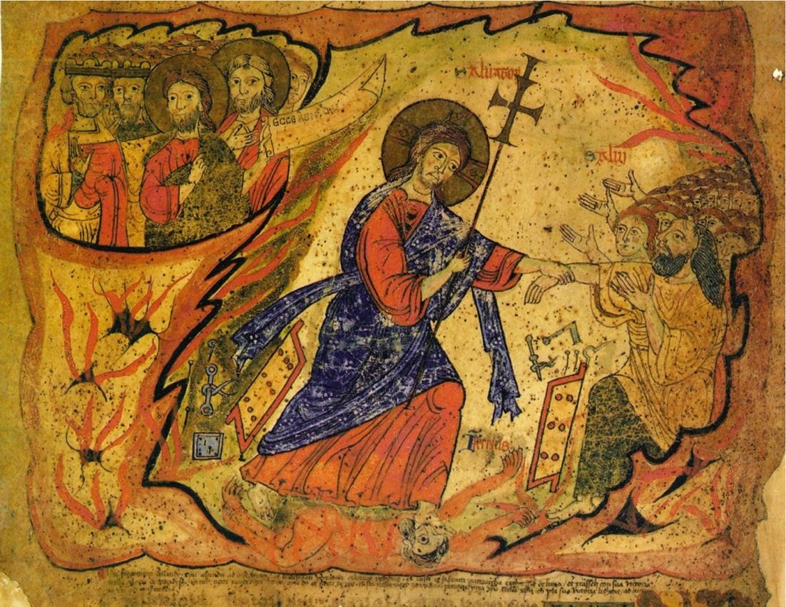 The Harrowing of Hell. The Barberini Exultet Roll, ca. 1087