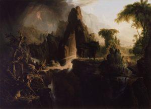 Thomas Cole, 1801-1848: Expulsion from the Garden of Eden, 1828.