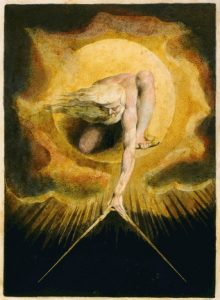 William Blake, 1757-1827: God Creating the Universe, 1824.