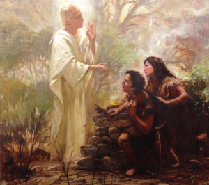 Figure 1. Walter Rane (1949–), The Angel with Adam and Eve.