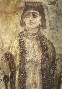 Figure 3. Veiled Christian Woman Prays with Uplifted Hands, ca. 300-400.