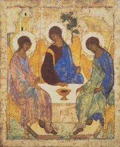 Andrei Rublev, ca. 1360-ca. 1430: The Holy Trinity, ca. 1408-1425.