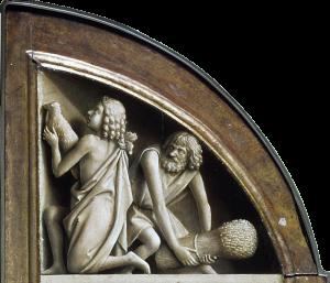 Jan van Eyck, ca. 1395-1441: Offering of Abel and Cain, 1425-1429.