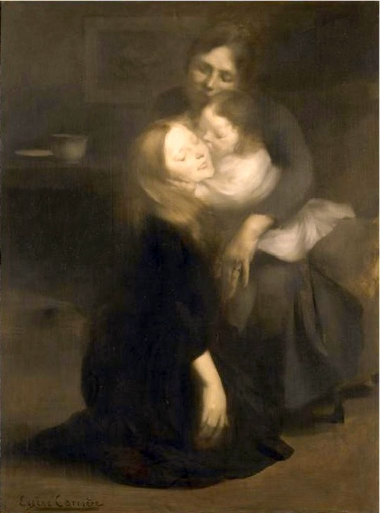 Eugène Carrière, 1849-1906: Intimacy, or The Big Sister, ca. 1889.