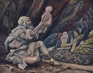 J. James Tissot, 1836-1902: The Birth of Noah (Genesis 5:29), ca. 1896-1902.