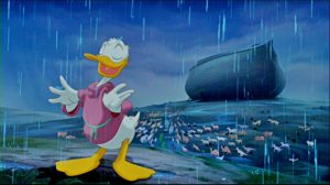 Donald Duck Gathers the Animals to the Ark, 1999.