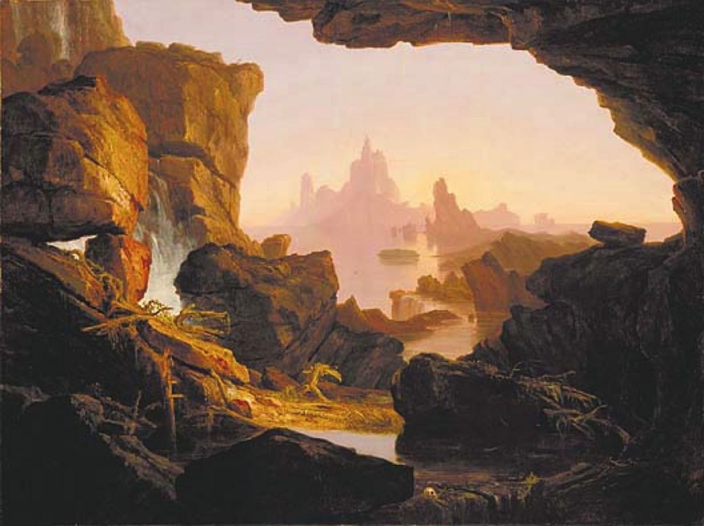 Figure 1. Thomas Cole, 1801-1848: The Subsiding Waters of the Deluge, 1829.
