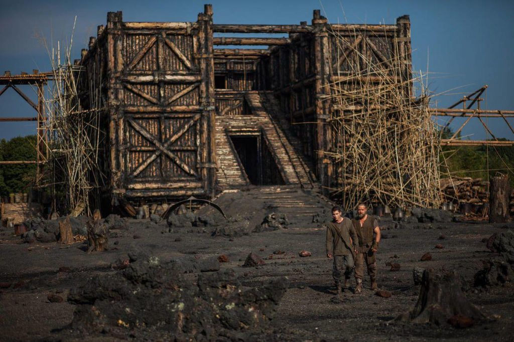 Figure 5. Rectangular Ark from Aronofsky's Noah film, 2015. In contrast to many other aspects of the film, the shape of the Ark was in line with modern scholarship.