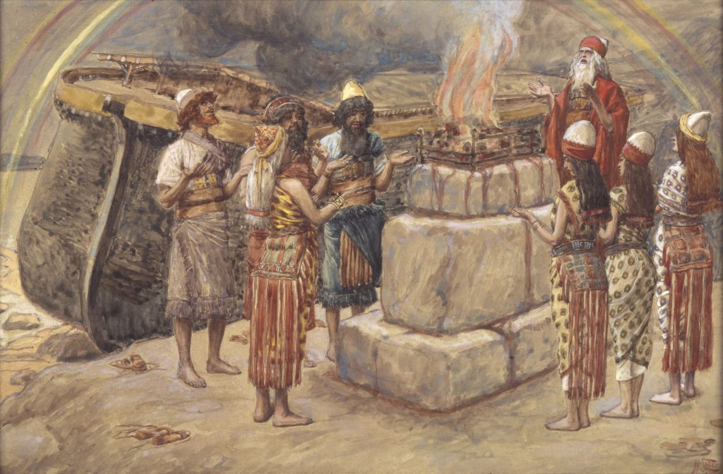 Figure 8. J. James Tissot, 1836-1902: Noah's Sacrifice, ca. 1896-1902.